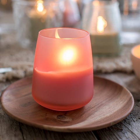 set-of-candles-pink-outside